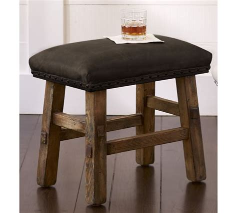 Pottery Barn Leather Stool by Caden Leather Stool Pottery Barn