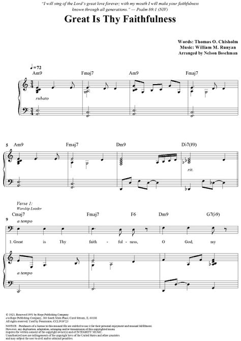 great sheets great is thy faithfulness sheet music by william m runyan