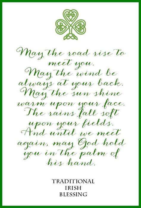 printable irish quotes irish blessing free printable irish blessing diy wall