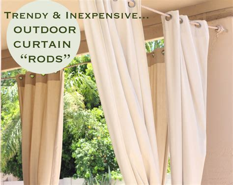 outdoor curtain rods for patio trendy inexpensive outdoor curtain quot rods quot retro spirit modern world