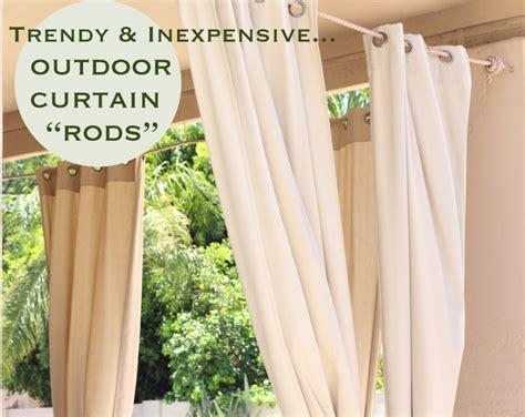 Trendy amp inexpensive outdoor curtain quot rods quot retro spirit modern world