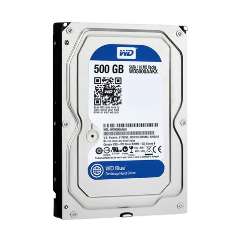 Harddisk 3 5 Wdc Blue 500gb storage drives western digital wd5000aakx series wd blue 500gb 7200rpm serial ata 6