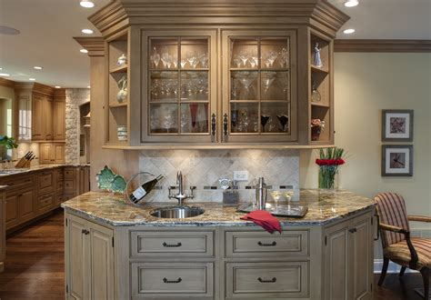 tuscan style kitchen cabinet with white and wooden tone