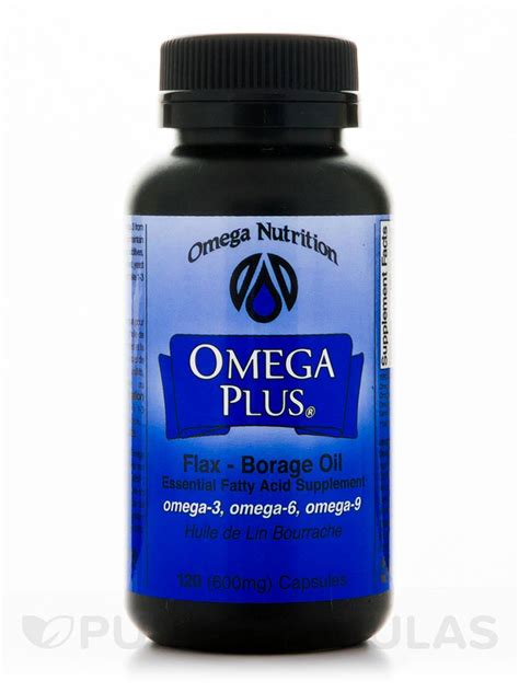 Omega Nutrition Borage 2 Ounce omega plus flax borage 120 softgels