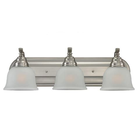 Sea Gull Vanity Lighting Sea Gull Lighting Wheaton 3 Light Brushed Nickel Vanity Light 44627 962 The Home Depot