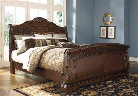 north shore king sleigh bed north shore king sleigh bed lexington overstock warehouse