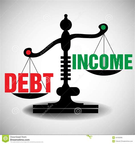 Housing Plans by Debt And Income Scale Stock Vector Image 44192066