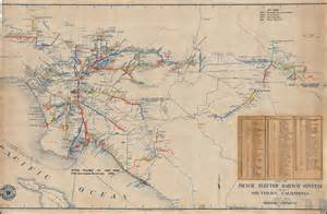 map of the pacific electric railway system of southern