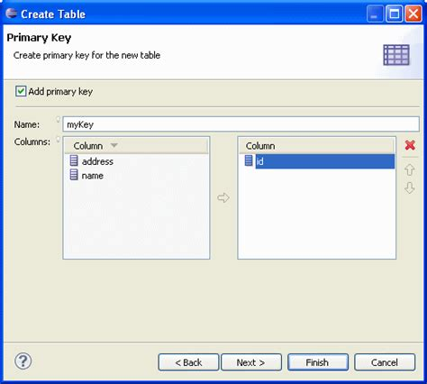 Oracle Create Table Primary Key by Getting Started With The Oracle Database Plugin For Eclipse