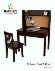 Kidkraft Pinboard Desk by Kidkraft Pinboard Desk With Hutch And Chair In Espresso 27150