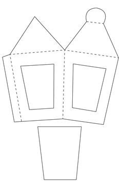 Paper Lantern Craft Template - free lantern with vellum inserts template diy crafts