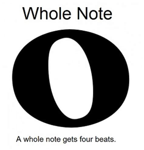 large printable quarter note the whole note semibreve
