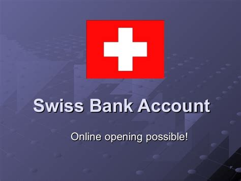 free swiss bank account swiss bank account opening