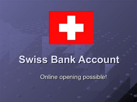 swiss bank account swiss bank account opening