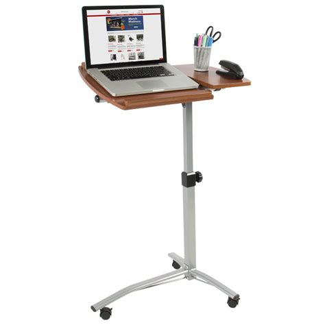 Over Bed Hospital Table Stand Angle Height Adjustable Laptop Rolling Desk