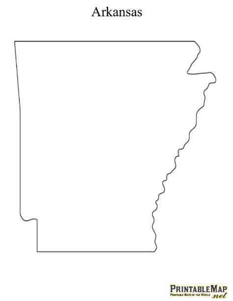 Arkansas County Outline Map by Arkansas State Outline Map