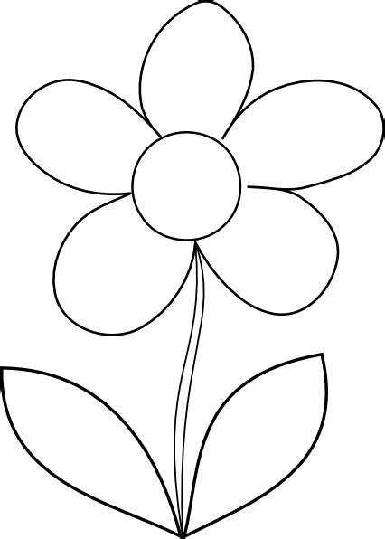 clipart of flowers coloring pages clear flower clip at clker vector clip
