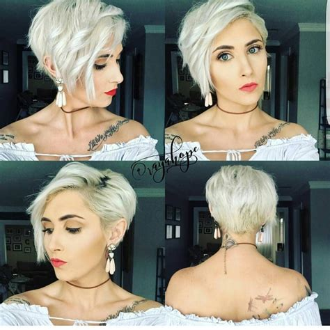 how to cut one side shorter and the other longer haircuts 8 505 likes 87 comments short hairstyles pixie cut