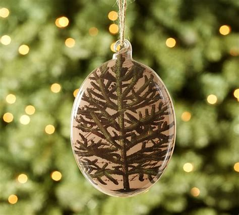 Decoupage Glass Ornaments - decoupage tree glass ornament pottery barn