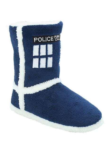 doctor who slippers doctor who tardis slipper boots topic