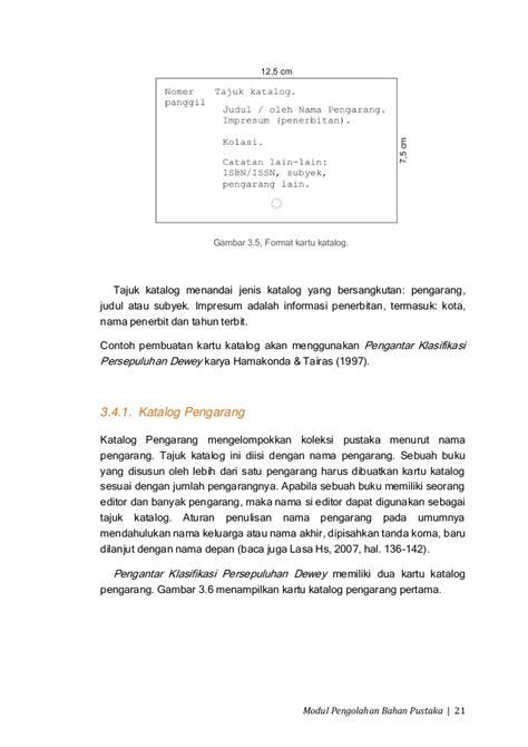 Pengantar Klarifikasi Persepuluhan Dewey modul01 pengolahan bahan pustaka