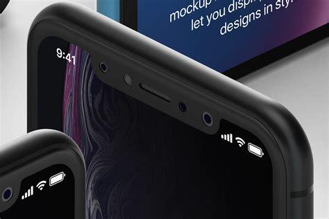 psd iphone xr mockup isometric vol psd mock  templates pixeden
