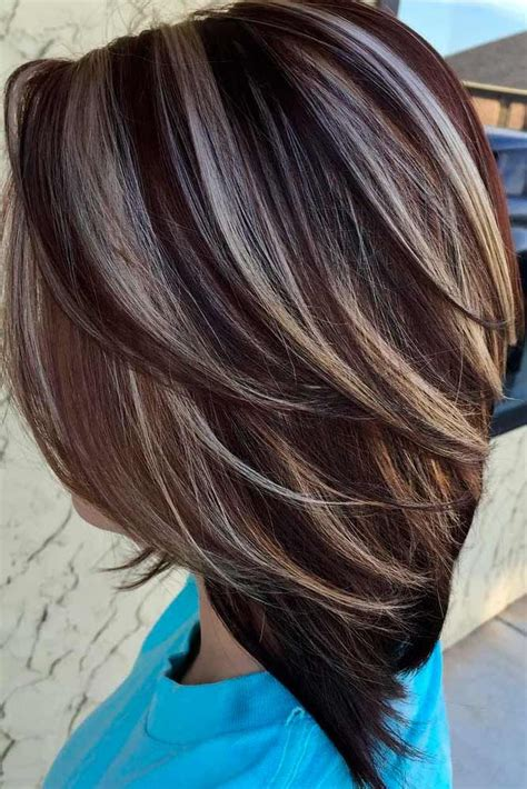 hairstyles highlights brunettes best 25 hair color with highlights ideas on pinterest