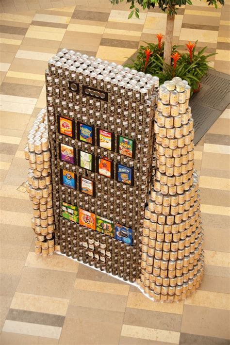 how to build a canned food sculpture canned canned art pinterest food sculpture and