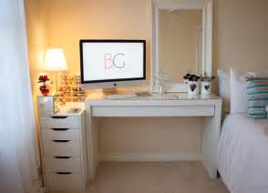 Ikea Malm Vanity Ideas Room Tour Office Malm Dressing Table Makeup Collection