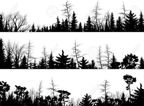 pine tree clipart skyline pencil and in color pine tree