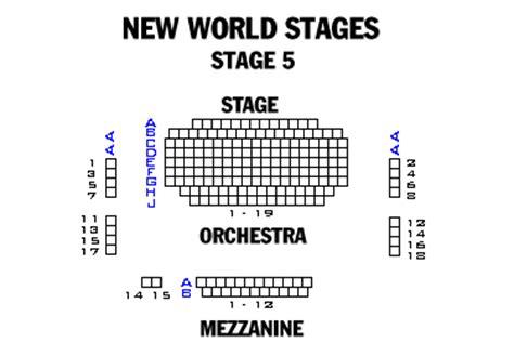 new world stages seating chart new world stages stage 5 playbill