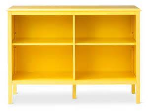 target horizontal bookcase in yellow wooden paint ideas