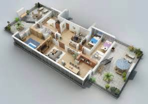Apartment designs shown with rendered 3d floor plans futura home decorating