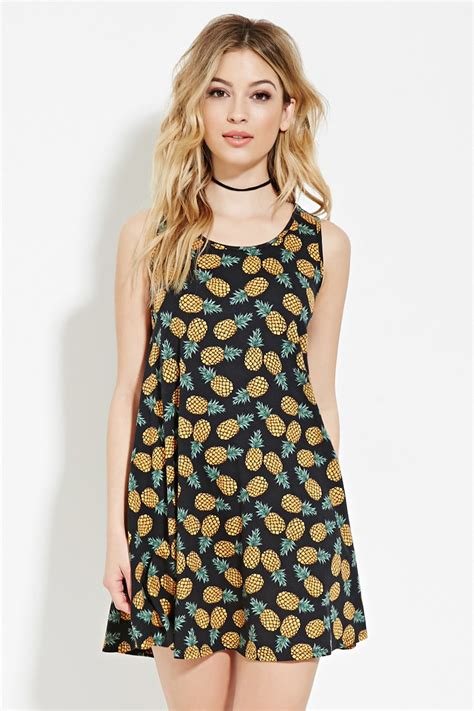 Pineapple Mini Dress lyst forever 21 pineapple print mini dress you ve been added to the waitlist in green