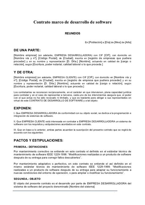 formato modelo o ejemplo de contrato de asimilados a salarios formato de contrato marco para desarrollo 225 gil