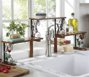 Red Kitchen Faucets 2 tier garden bounty over the sink shelf from seventh