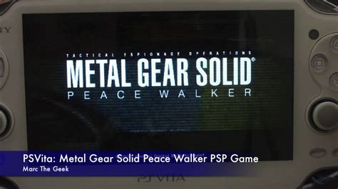 Po Import Console Psp Metal Gear Solid Peace Walker Premium psvita metal gear solid peace walker psp
