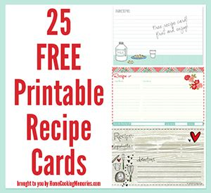 free template for 3x5 recipe cards 25 free printable recipe cards home cooking memories