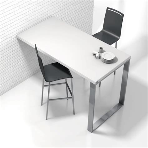 table de cuisine fixee au mur maison design bahbe com