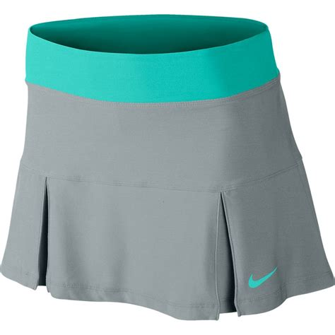 nike four pleated knit s tennis skirt silverwing turq