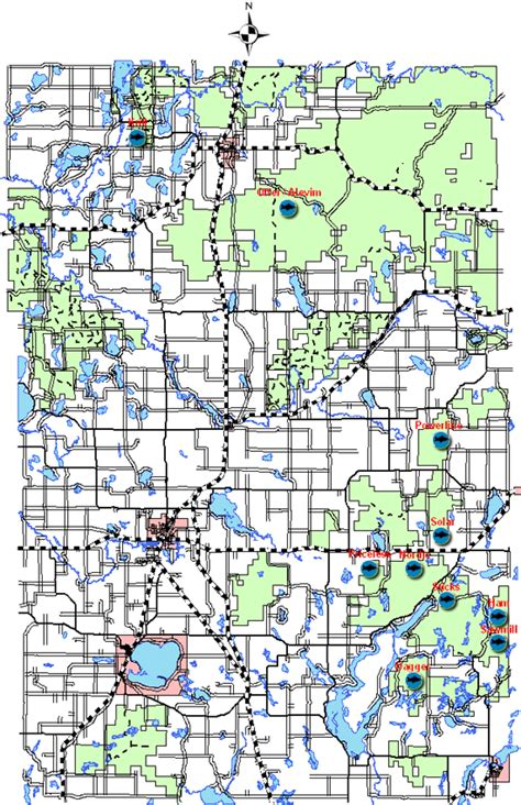 State Of Wi Court Records Trout Ponds Of The Washburn County Forest Map