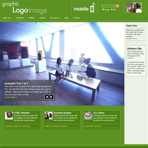 mobile themes html5 web template with mobile version network lime green
