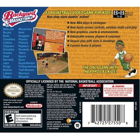 Backyard Basketball Ds by Backyard Basketball Nintendo Ds Apparel Accessories Clothing Uniforms Sports Uniforms Uniforms