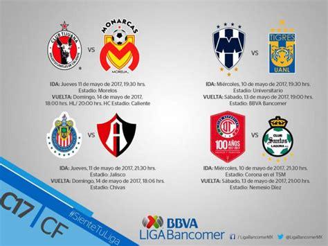 Calendario De La Liguilla Oficializa Liga Mx Horarios De La Liguilla Clausura