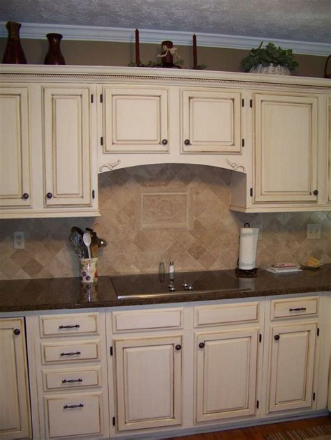 cream cabinets with dark brown glaze mom s house