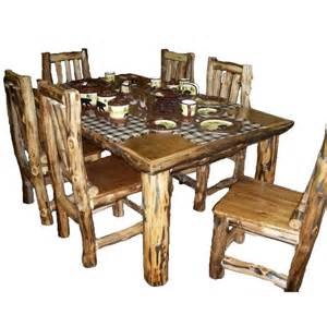 rustic kitchen table set country western log cabin wood furniture nook you think