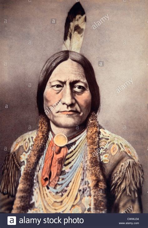 Sitting Bull by Sitting Bull Sioux Chief Colored Albumen Photograph