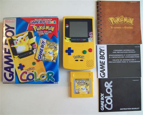 gameboy color pikachu edition boy color pikachu edition system complete in