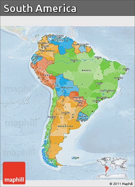south america map free free political 3d map of south america lighten