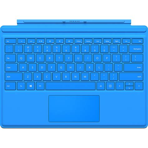 surface pro keyboard light microsoft surface pro pro 4 type cover bright blue